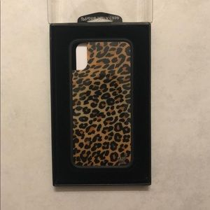 Cheetah print Wildflower iPhone X/XS case